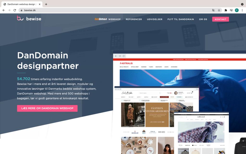 Bewise homepage