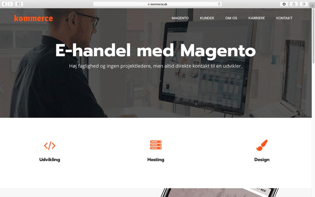 Kommerce homepage
