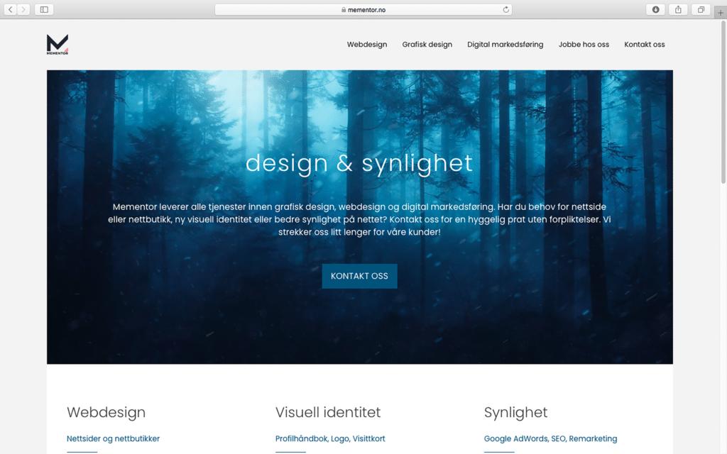 Mementor homepage