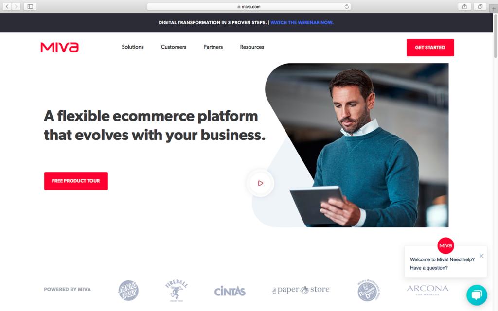 Miva homepage