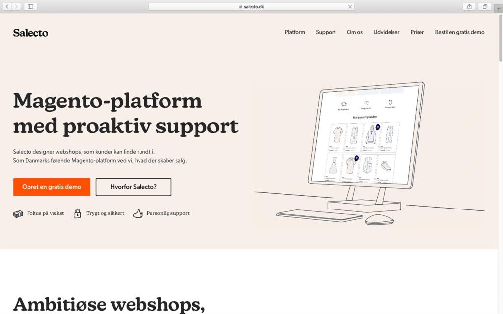 Salecto homepage