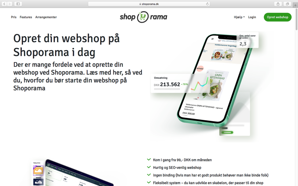 Shoporama homepage