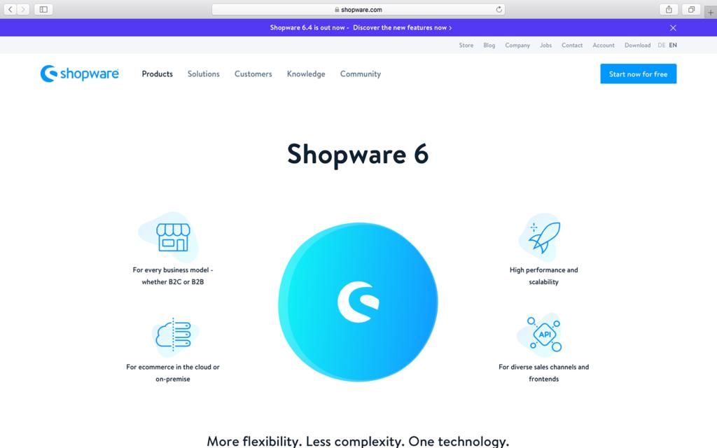 Shopware homepage