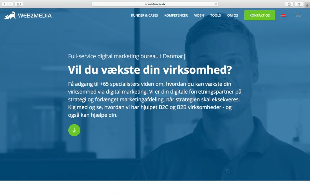 Web2Media homepage