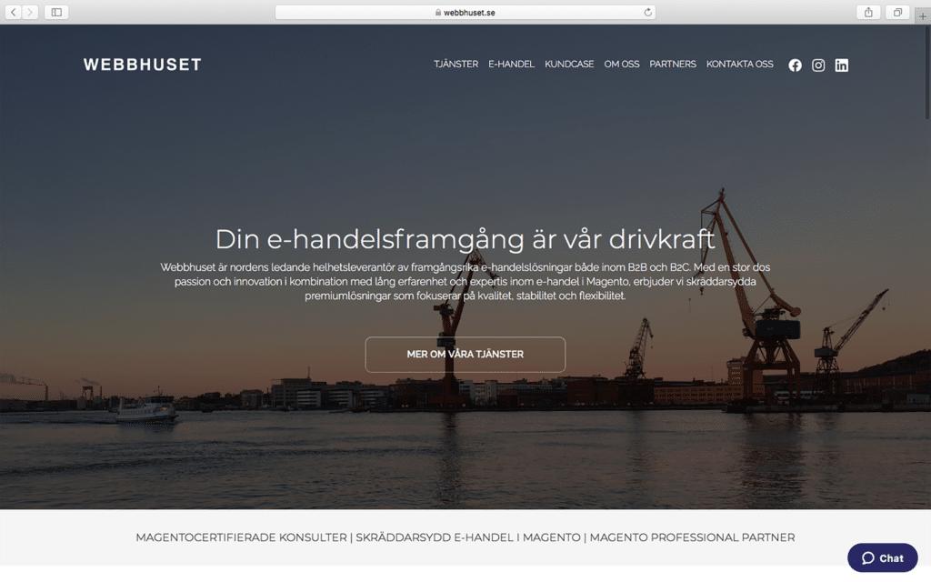 Webbhuset homepage