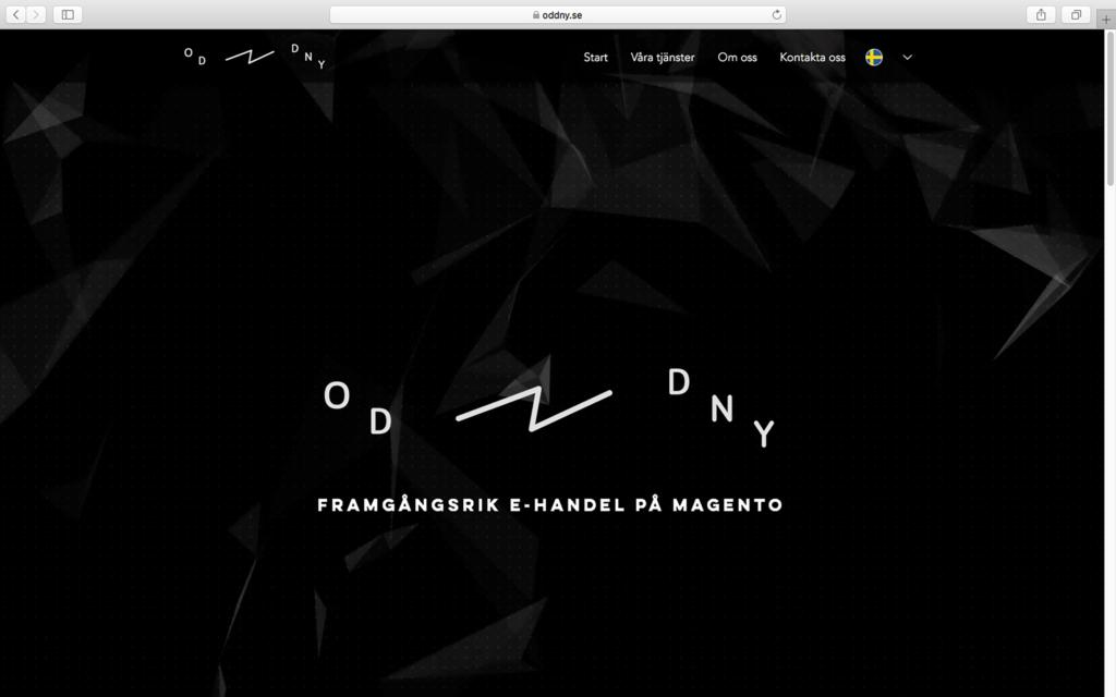 Oddny homepage